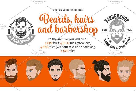 Beard And Hair Style Set