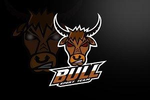 bull logo sport team