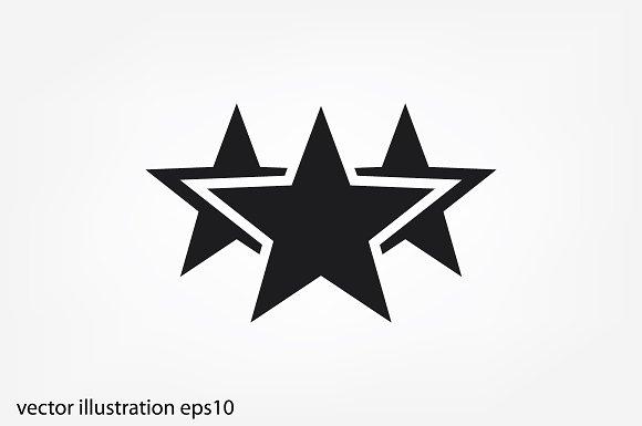 3 Star Icon Icons Creative Market