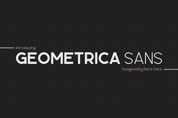 Geometrica Sans Type Family