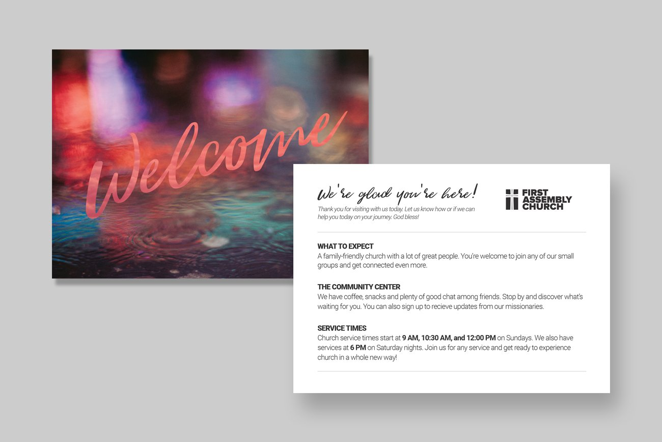 modern welcome postcard  postcard templates  creative market