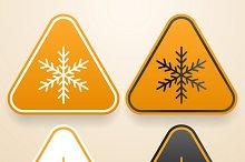 Set of Cold warning signs