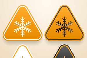 Set of Cold warning signs