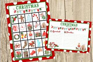 Xmas Printable Bingo and Recipe Card