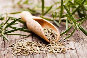 Dry rosemary herb