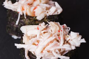 Kani sushi with crab