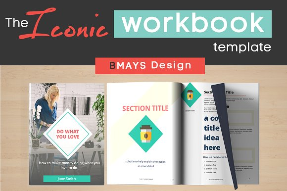 iconic workbook and layout template presentation templates