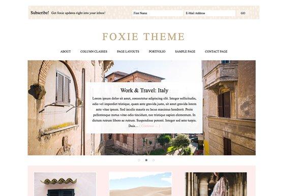 Foxie A Wordpress Genesis Theme