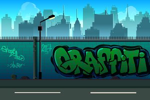 2d Graffiti Seamless Background