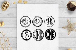 monogram frames & 10+ monogram svgs