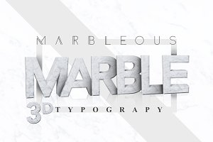 MARBLE 3D Typography