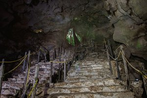 stairs into a cave