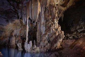 beautiful underground lake