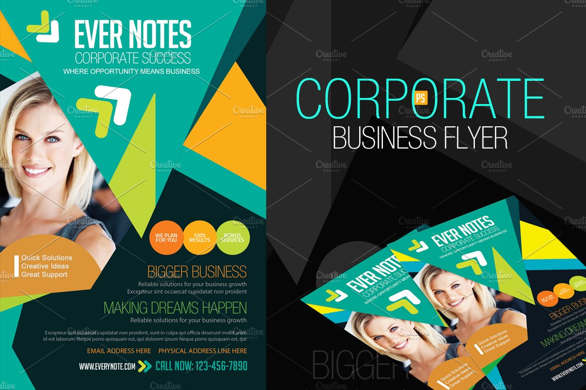 50 off corporate business flyers flyer templates creative market