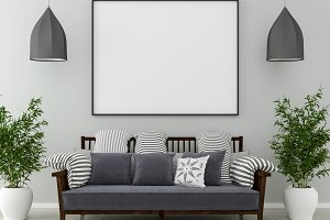 Blank picture frame interior