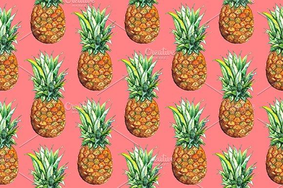 Pineapple Fruit Seamless Pattern