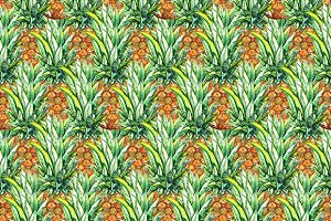 Pineapple fruit seamless pattern
