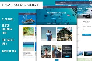 TravelAgency Sketch Website Template