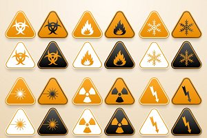 Set of warning signs