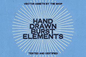 28 hand-drawn burst elements