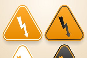 Set of Hi Voltage warning signs