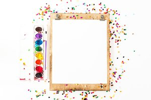 Art & Craft Wood Frame Styled Stock