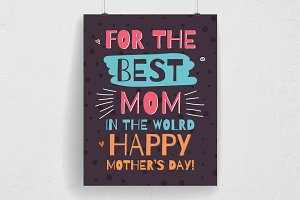 Happy Mother's Day Typography Flyer