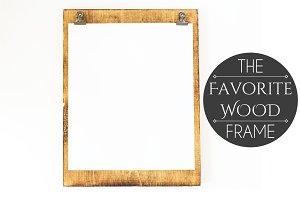 Wood Frame Clipboard on White