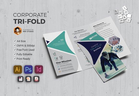 Stylish Tri-Fold Brochures-Graphicriver中文最全的素材分享平台