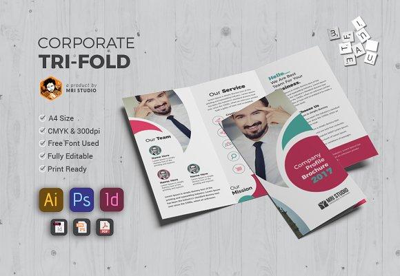 creative tri fold brochure brochure templates creative market