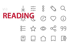 60 Reading UI icons