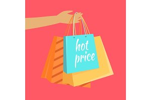 Hot Price Vector Concept in Flat Design
