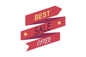 Best Sale Offer. Discount Banner Isolated. Vector