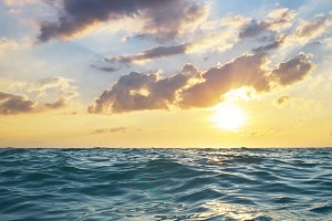 Waves on sunset