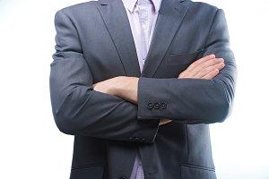 Modern man in suit
