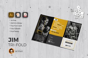 GYM Tri-Fold Brochure Templates