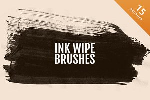 15 High Quality Ink Wipe Brushes