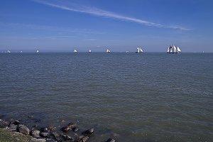 Sailing ships.