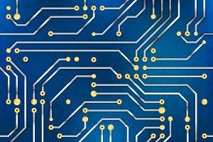 Computer microchip, seamless pattern