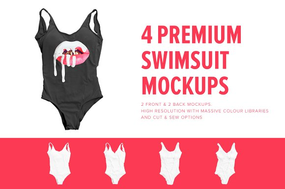 Download Premium One Piece Swimsuit Mockups