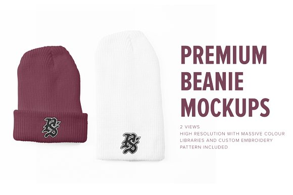 Premium Beanie Mockups-Graphicriver中文最全的素材分享平台