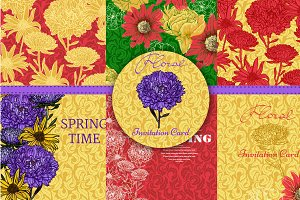 Collection of floral patterns & card