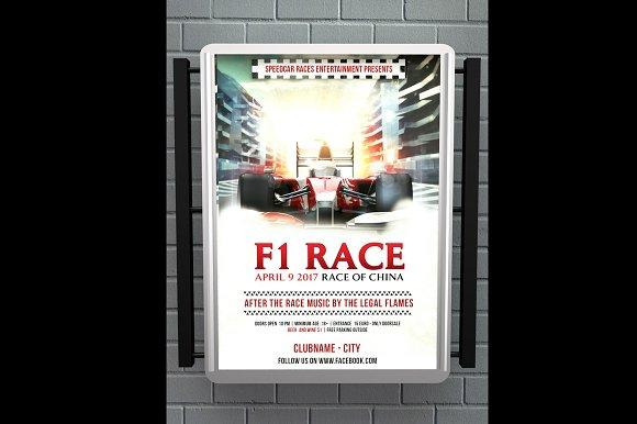 Formula 1 Race Flyer