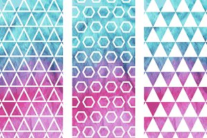 3 Vector Seamless Geometric Pattern