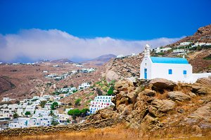 Beautiful landscape on Mykonos island, Greece