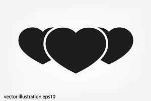 3 heart icon