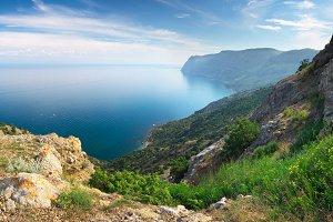 Mountain and sea panorama