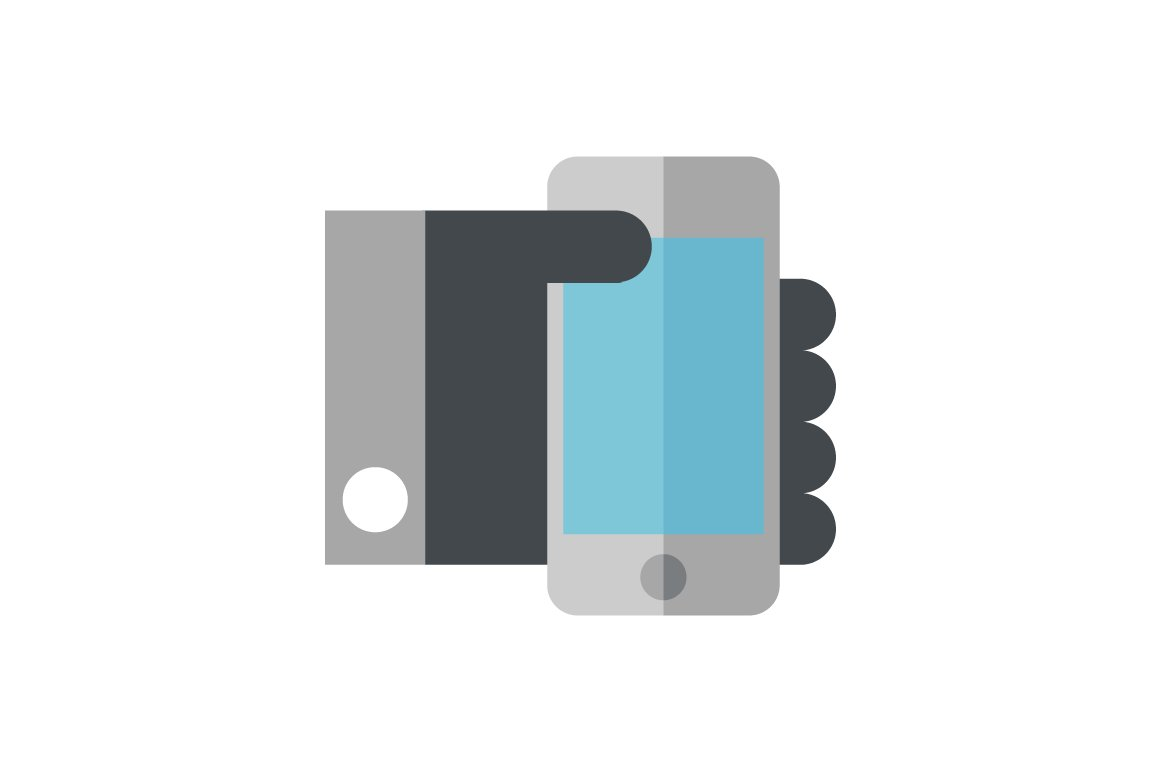 Hand Holding A Mobile Phone Icon