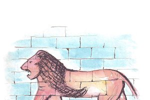 Lion from the Ishtar gate of Babylon