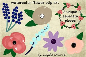 Painted Flower Clip Art